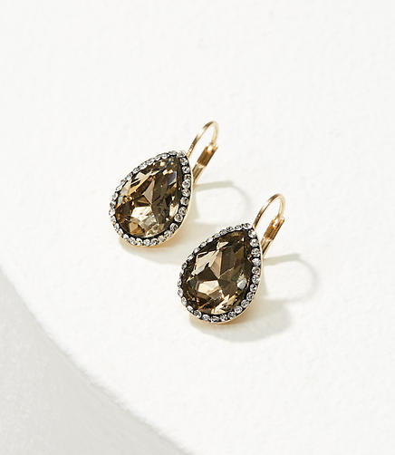 Crystal Stone Teardrop Earrings