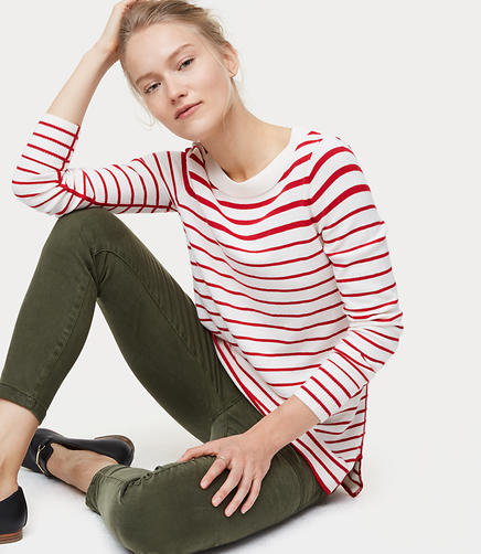 Modern Striped Tunic Sweater