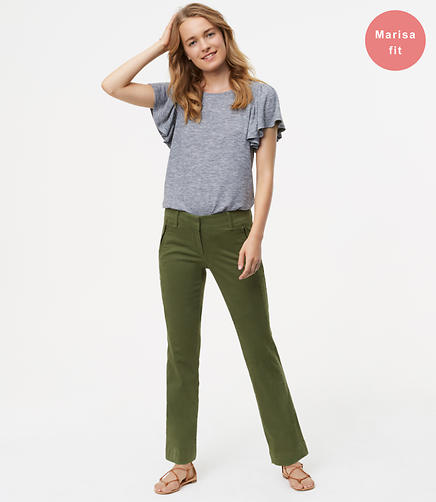 Bootcut Sanded Sateen Chinos in Marisa Fit