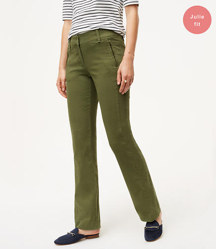 Petite Bootcut Sanded Sateen Chinos in Julie Fit