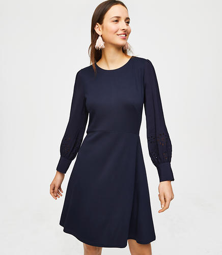Eyelet Blouse Dress