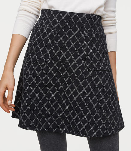 Diamond Pocket Flippy Skirt
