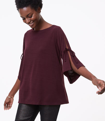 Split Tie Sleeve Top