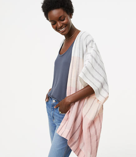 Image of Ombre Striped Poncho