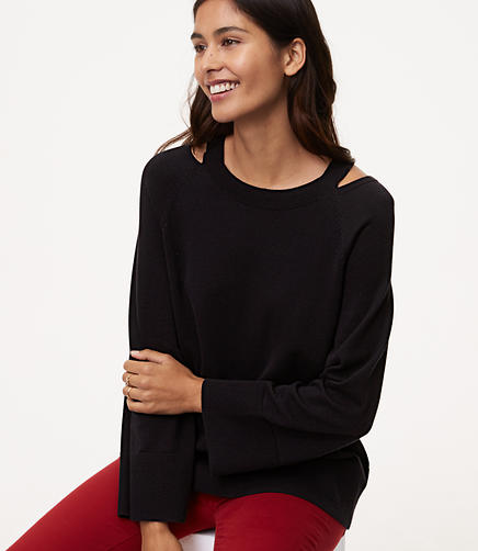 Image of Petite Cutout Sweater