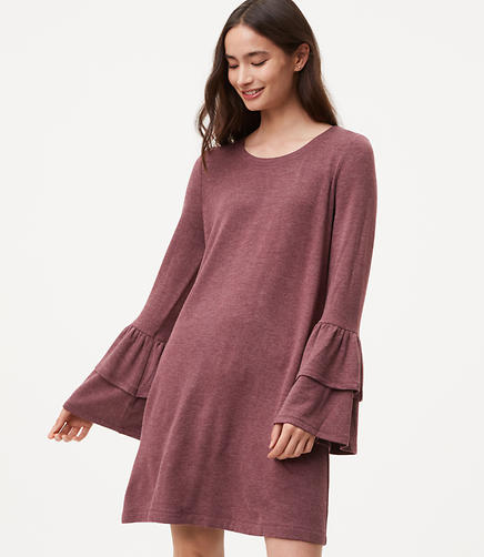 Image of Knit Bell Sleeve Dress