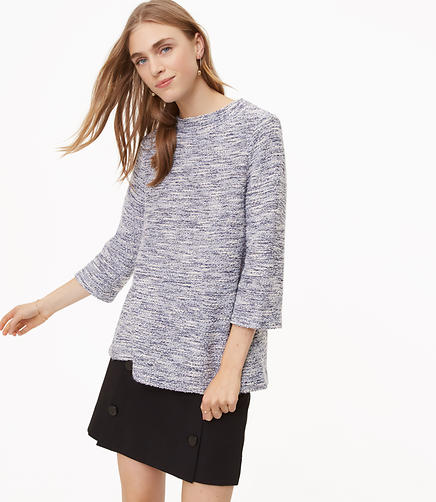 Shimmer Boucle Top
