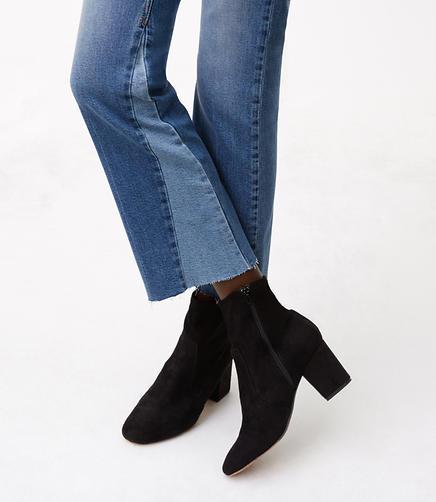 Modern Godet Vintage Straight Jeans in Mid Indigo