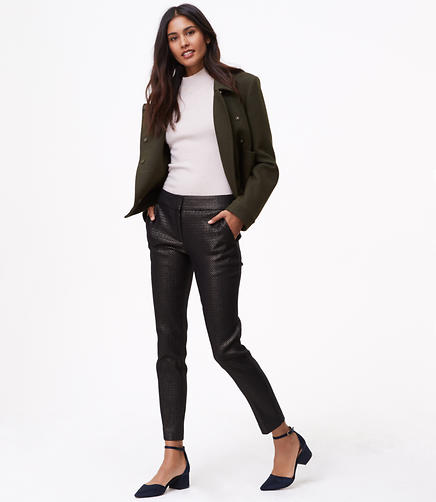 Skinny Geo Shimmer Ankle Pants in Marisa Fit