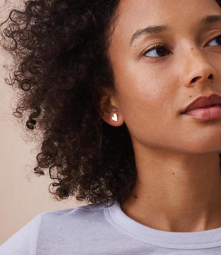 MIE by Honey & Bloom Heart Stud Earrings