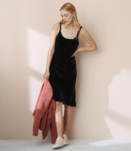 CP Shades Faye Velvet Slip Dress