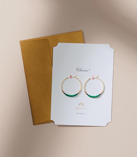 Kui Co. Kim Earrings Jewelry Card