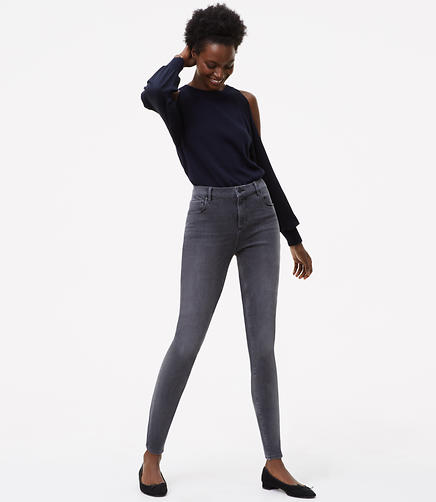 Performance Denim Leggings in Vivid Grey Wash