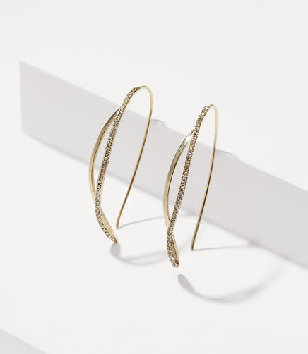 Image of Pave Twist Drop Earrings
