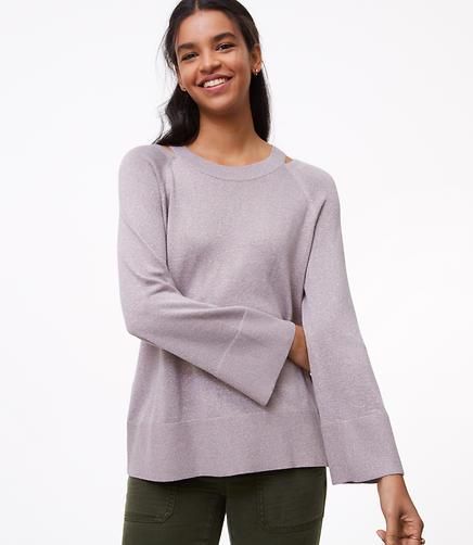 Shimmer Cutout Sweater