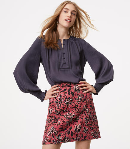 Floral Vine Shift Skirt
