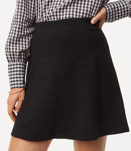 Image of Seamed Flippy Skirt