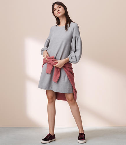 Lou & Grey Blouson Sweatshirt Dress