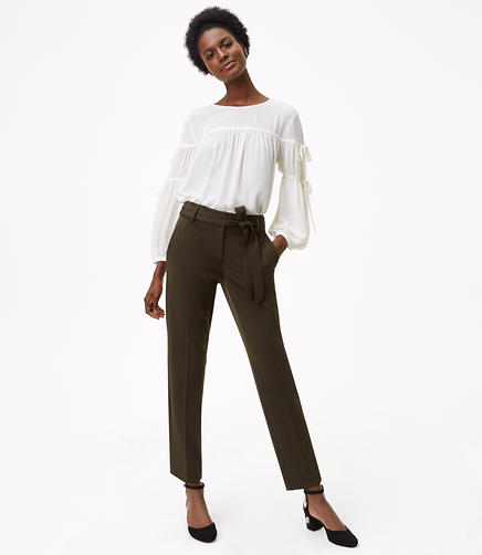 Slim Tie Waist Custom Stretch Pants in Marisa Fit