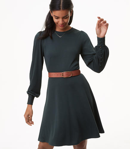 Blouson Flare Dress