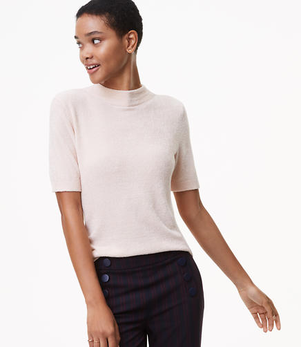 Fuzzy Short Sleeve Sweater