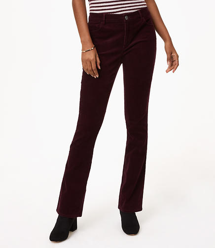 Petite Curvy Bootcut Corduroy Pants