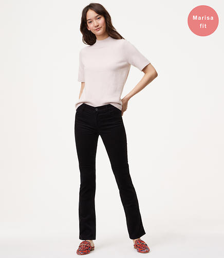 Image of Petite Bootcut Corduroy Pants in Modern