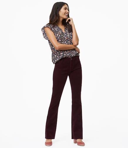 Petite Bootcut Corduroy Pants in Modern