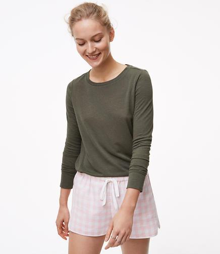 Plaid Pajama Shorts