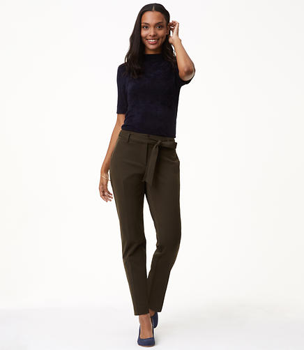 Slim Tie Waist Custom Stretch Pants in Julie Fit