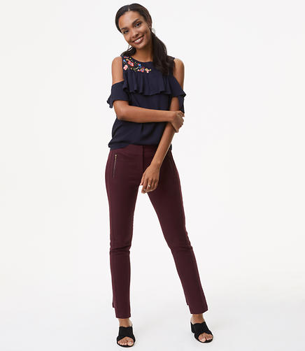 Petite Skinny Zip Pocket Bi-Stretch Pants in Julie Fit