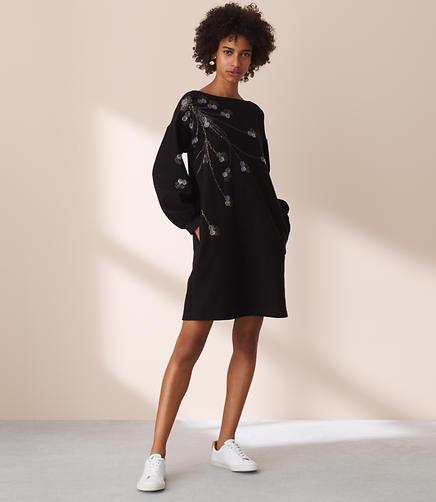 Lou & Grey Branchout Sweatshirt Dress