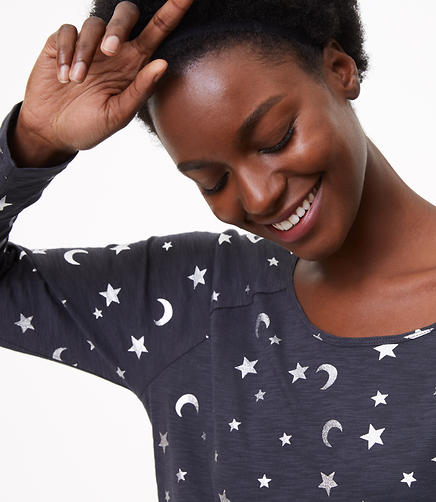 Foil Moon & Star Textured Tee