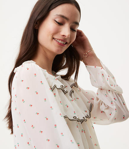 Image of Rosebud Ruffle Blouse