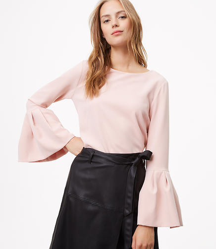 Doubleweave Bell Sleeve Top