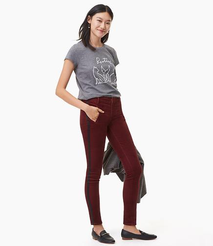 Modern Skinny Velvet Tuxedo Pants