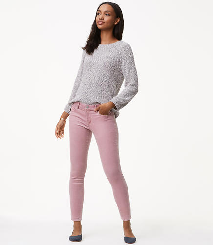 Petite Skinny Brushed Corduroy Pants in Curvy