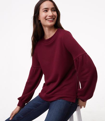 Lantern Sleeve Sweatshirt