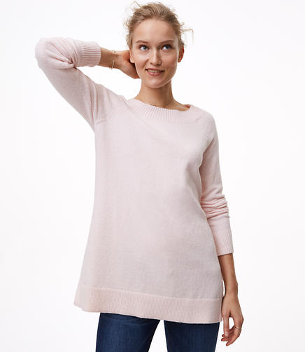 Petite Boatneck Tunic Sweater