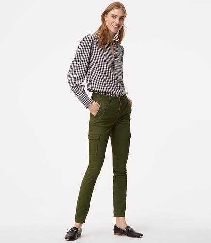 Tall Skinny Sanded Sateen Cargo Pants