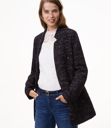 Tall Notched Tweed Jacket