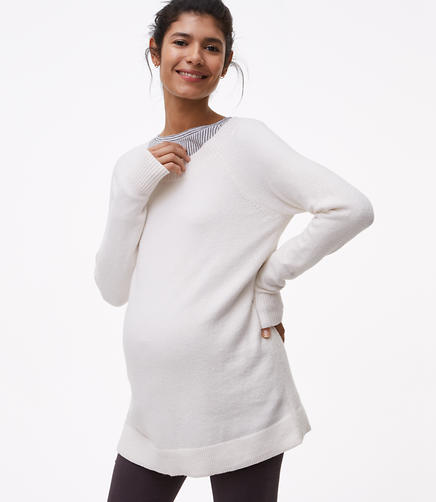 Maternity Boatneck Tunic Sweater
