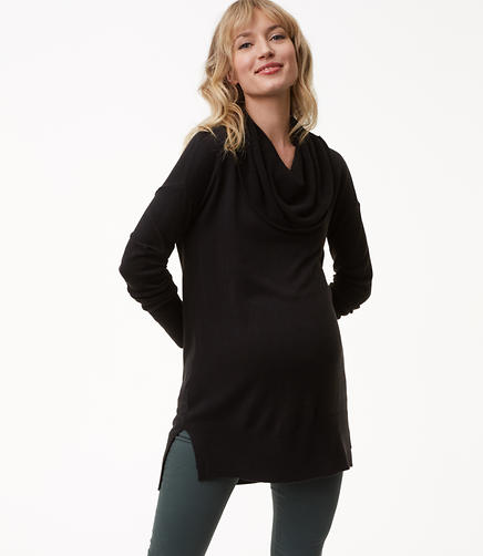 Maternity Cowlneck Tunic Sweater