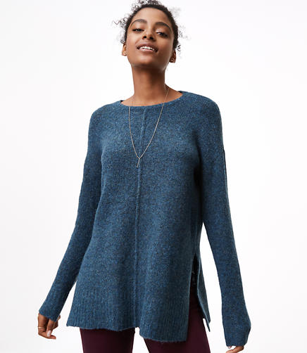 Petite Seamed Tunic Sweater