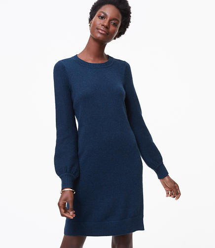 Petite Sweater Blouse Dress