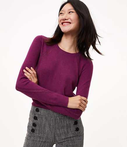 Petite Shirttail Sweater