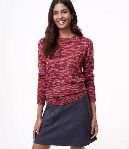Petite Spacedye Shirttail Sweater