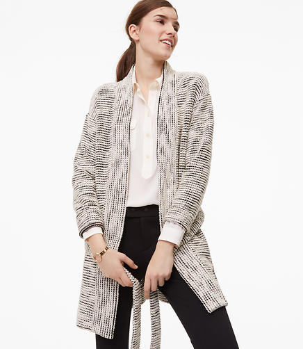Petite Textured Belted Cardigan