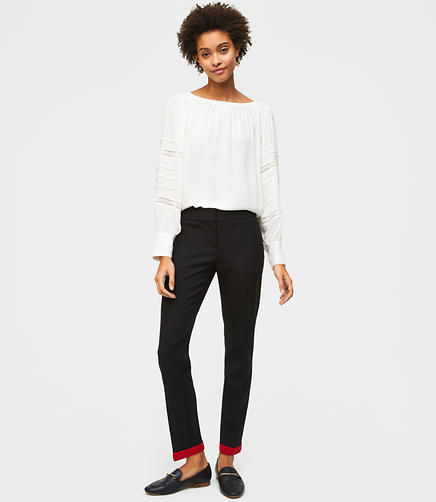 Slim Contrast Cuffed Pants in Marisa Fit
