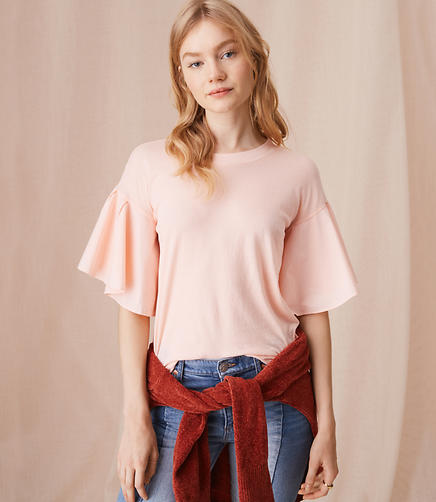Image of Lou & Grey Softserve Cotton Flutter Tee
